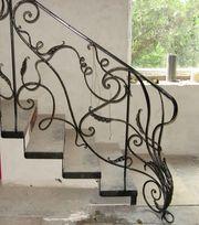 Ковані перила на сходи під замовлення